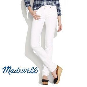 Madewell White Rail Straight Jeans 29